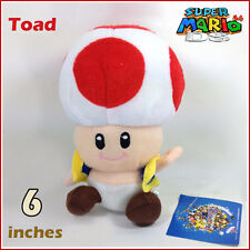 Super Mario Bros Plush Toad Soft Toy Nintendo Stuffed Animal Doll Figure Red 6""