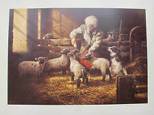 "MICHAEL JACKSON ""THE ORPHANS"" Hand Signed Limited Edition Art Lithograph LAMBS"
