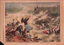 Floods Deluge Catastrophe du réservoir de Bouzey Vosges France 1895 ILLUSTRATION