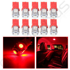 10x Red 5SMD LED Gauge Instrument Panel Light Bulb T10 W5W 168 194 For Toyota