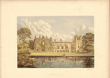 seats of noblemen of great britain & ireland - cromolithograph. newstead abbey