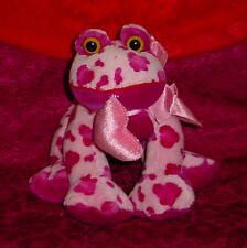 LAVENDER/ROSE  FROG WITH HEART * BIG EYES  * CUTE * 7 INCH*