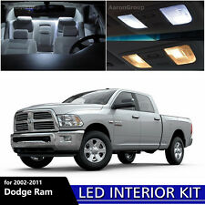 11PCS White Interior LED Light Package for 2002 - 2011 Dodge Ram 1500 2500 3500