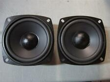 "NEW (2) 4"" Woofer Speakers.Replacement Driver Pair.Four Inch.Pin Cusion.8 ohm."