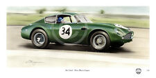 ASTON MARTIN DB4 GT ZAGATO ESSEX RACING JIM CLARK LE MANS NEW PAINTING PRINT ART