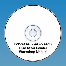 BOBCAT 440, 443 & 443B PARAMOTORE MANZO Workshop Manual