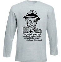 WILLIAM BURROUGHS - NEW COTTON GREY TSHIRT