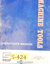 "Summit 4 1/8"" HBM, Milling Machine, Operations Parts & Electrical Manual 1941"