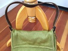 RENAUD PELLEGRINO Women's Designer Green Knit Snakeskin Leather Handbag FRANCE