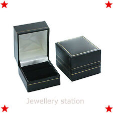 Leather Ring Box Jewelry Engagement Display Gift presentation CHEAPEST ON EBAY