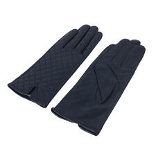 Elegant Women's Quilted Solid Winter Thermal Soft Leather Gloves - Diff Colors