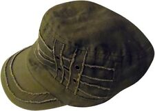 D&Y Army Green Distressed Military Cadet Hat Cap ONE SIZE