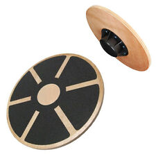 Non-Slip Wooden Wobble Balance Board 40cm - Rehabilitation Pro Exercise Training