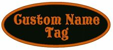"""Custom Embroidered 4"""" Oval Name Patch Motorcycle Biker Tag"""