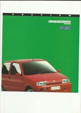 FIAT CINQUECENTO SPORTING PREVIEW SALES BROCHURE 1994 FOR 1995 MODEL YEAR