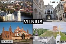 SOUVENIR FRIDGE MAGNET of VILNIUS LITHUANIA