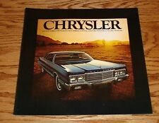 Original 1973 Chrysler Full Line Sales Brochure 73 New Yorker Newport
