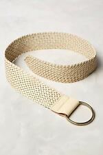 NEW ANTHROPOLOGIE LINEA PELLE NATURAL WOVEN LEATHER CORSET BELT MEDIUM NWT