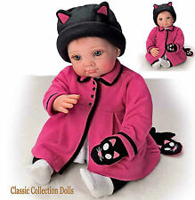 "Ashton Drake ""LITTLE KITTEN HAS LOST HER MITTEN"" - LIFELIKE BABY GIRL DOLL- NEW"