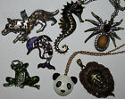 SELECTION OF ANIMAL INSECT LONG PENDANT NECKLACES BUY 2 GET 1 FREE FAST UK DELI