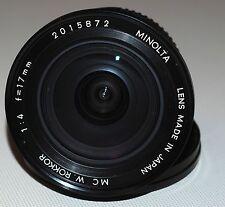 Minolta MC W.Rokkor 17mm 1:4 lens, CLA | Rokkor 17 f4