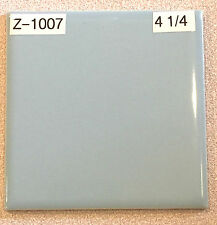 "(Z-1007) 1 Pc Vintage Ceramic Wall Tile 4 1/4"" Blue Mist American Olean Glossy"