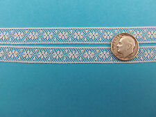 """French Heirloom Cotton Lace Insertion 7/16""""Wide/WhiteFashion/Craft/Doll Lace777"""