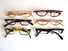 Vintage Lot of 6 Half Eye Women Assorted Eyeglasses Frames  NOS