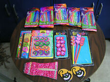 ASSORTED COLORING PENS, PENCILS AND ERASERS W/ 3 NOTE PADS - NEW