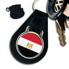 EGYPT EGYPTIAN FLAG LEATHER KEYRING / KEYFOB