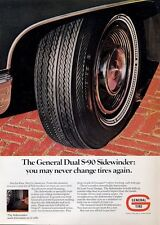 1969 General Tire S-90 Sidewinder White Wall Tire PRINT AD