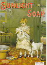 ROBERT  OPIE  ADVERTISING  POSTCARD  -  SUNLIGHT  SOAP