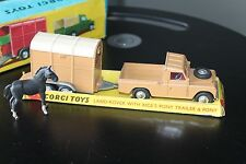 CORGI TOYS GIFT SET 2 * LAND ROVER WITH RICE´S PONY TRAILER * OVP * 1:43