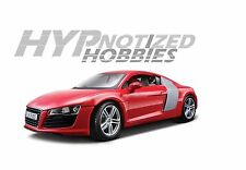 MAISTO 1:18 AUDI R8 DIE-CAST RED 36143RD