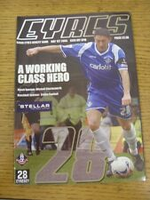 1 ° maggio 2006 Oldham Athletic legende V Celebrity XI [ David eyres vantaggio GAME ]. U