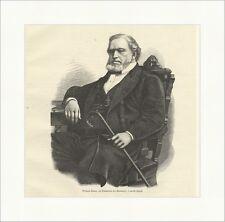 Brigham young, le prêtre des mormons, le président utah Gravure sur bois e 12072