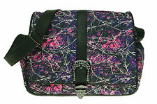 Muddy Girl Pink Purple Camo Quilted Diaper Bag Crossbody Exclusive