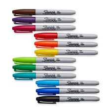 Sharpie Permanent Markers, Fine Point, Assorted Colors, 12-Pack (30072)