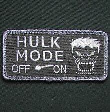 HULK MODE ON ARMY US MILITARY MORALE COMBAT BADGE DARK OPS HOOK & LOOP PATCH
