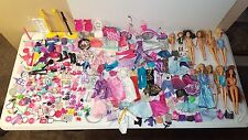 Huge Lot of Barbie Dolls & Accessories - Clothes, Shoes, Purses, Kitchen, Chairs