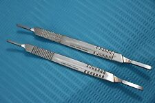 NEW 2 Surgical Scalpel Blade Handle Holder #3 & #4 two in one fits on all blade