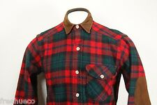 vtg WOOLRICH Wool Blend Work/Sport Shirt -Red Green Multi Plaid -Men's Small