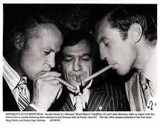 Boom Boom Geoffrion-Wire Photo of HOF Induction w/Gordie Howe & Jean Beliveau