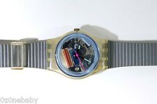 LK106 Swatch BLUE BAY Womens Clear Jelly 80s