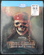 NEW PIRATES OF THE CARIBBEAN DEAD MAN'S CHEST BLU-RAY STEELBOOK REGION FREE OOP