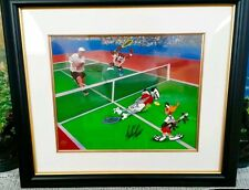 Warner Brothers Tennis star Andre Agassi signed cel  VOLLEY FOLLY  rare cell