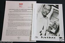 LUTHER VANDROSS—1994 PRESS KIT—PHOTO