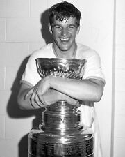 Bobby Orr with 1970 Stanley Cup - Boston Bruins, 8x10 B&W Photo