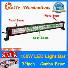 180W Led Work Light Bar Flood/Spot/combo 4x4 4WD Offroad SUV Boat Driving 32inch