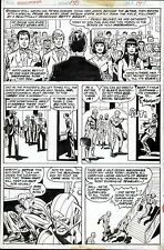 1976 AMAZING SPIDER-MAN #156 ORIGINAL ART PAGE ROSS ANDRU WEDDING OF NED & BETTY